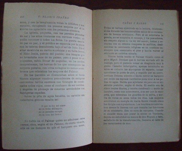1914 Vicente Blasco Ibáñez, Cañas y Barro