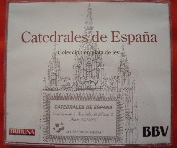 Catedrales de España, colección de 8 medallas de plata, 1995