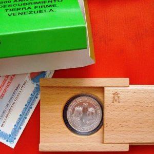 1998 Moneda plata FNMT Serie QCTF Venezuela 3 euros