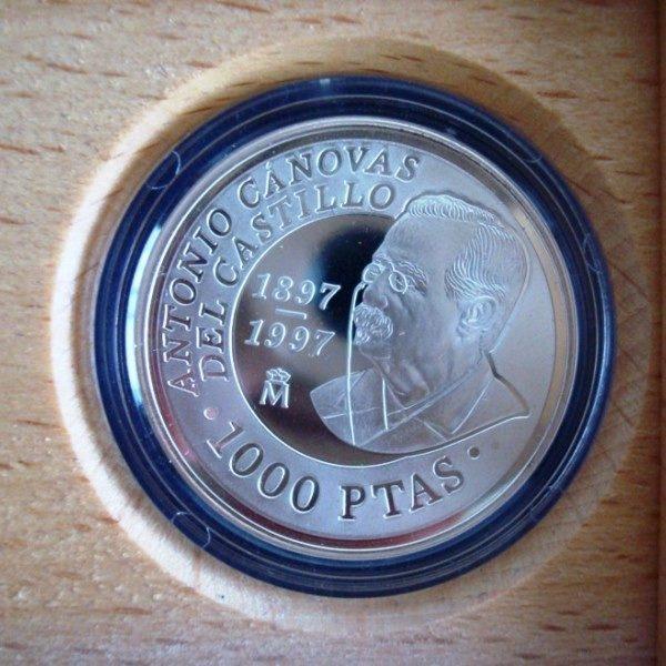 1997 Moneda plata FNMT Centenario Antonio Cánovas