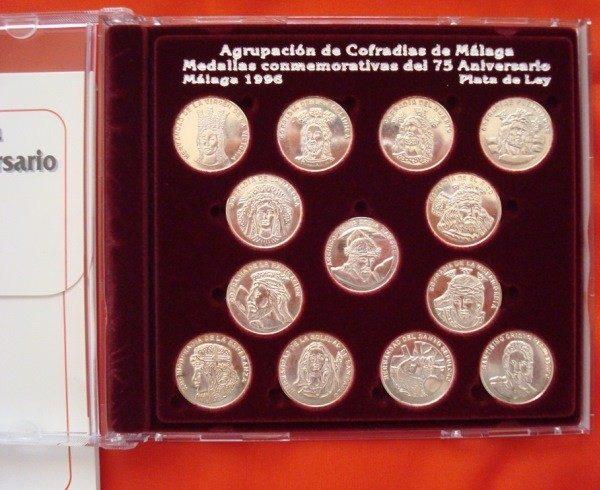 Cofradías de Málaga (I), 13 medallas plata, 1996