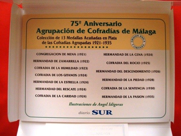 Cofradías de Málaga (II), 13 medallas plata, 1997