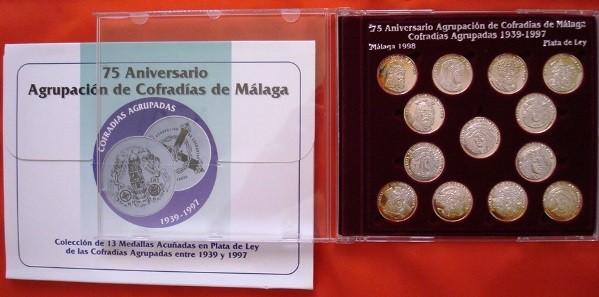 Cofradías de Málaga (III), 13 medallas plata, 1998