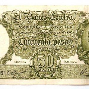 1983 Billete de 50 pesos de Argentina