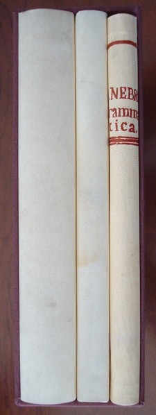 Gramática de la Lengua Castellana, Antonio de Nebrija, 1492 (3 tomos)