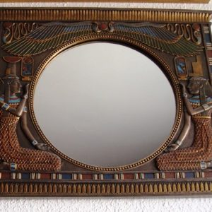 Espejo egipcio, pared, muy decorativo