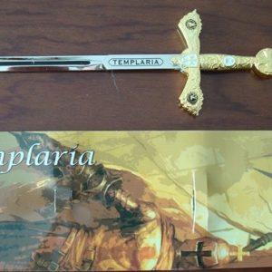Mini espada templaria color oro Tole10