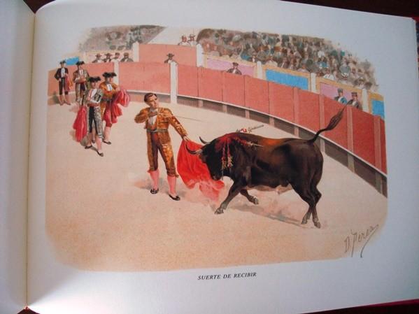 Á los toros, litografías de Daniel Perea, 1900