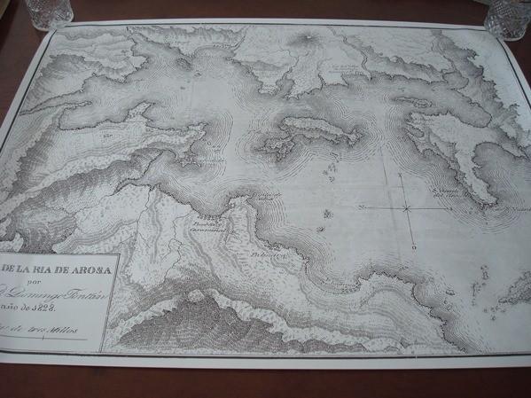 Plano de la Ría de Arousa de 1828, Domingo Fontán