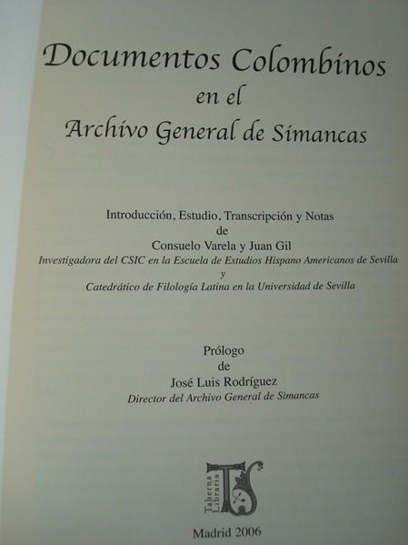 Documentos colombinos en el Archivo General de Simancas