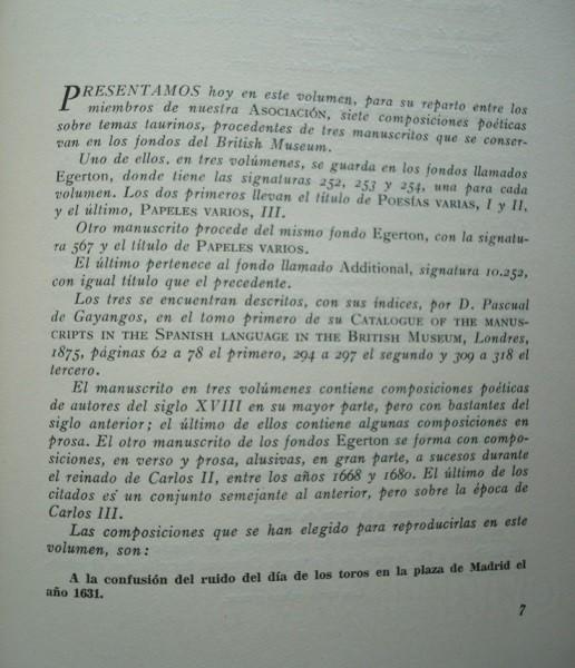 Pliegos Poético Taurinos, 1961, U.B.T.