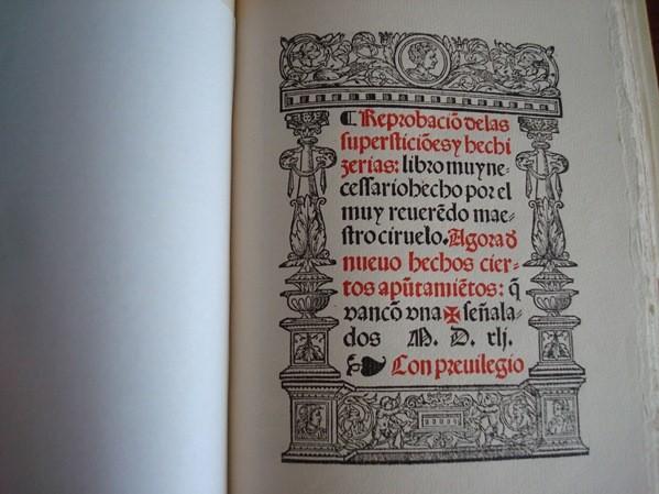 Reprobación de las supersticiones y hechicerías, Pedro Sánchez Ciruelo