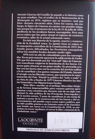 Cánovas y los conciertos económicos, Jaime Ignacio del Burgo