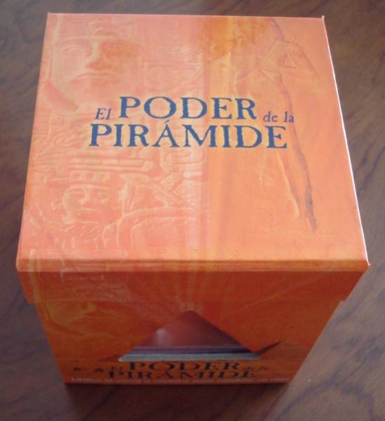 El poder de la pirámide, librito con pirámide de cristal, Ronald L. Bonewitz