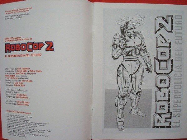 RoboCop 2, cómic oficial de la película de 1990