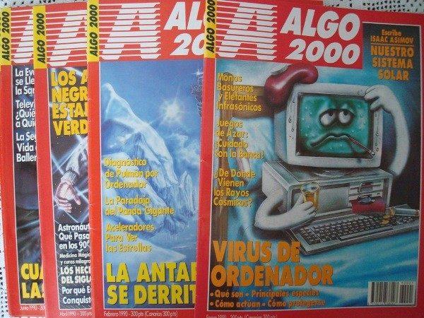 Revistas ALGO año 1990, 8 meses, sueltas