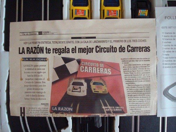 Circuito de Carreras, 2 jugadores, tipo scalextric
