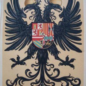 Pendón Real de Carlos I de España y V de Alemania, cromolitografía de 1877