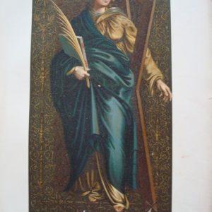 Histórico Pendón de Santa Eulalia, cromolitografía de 1877