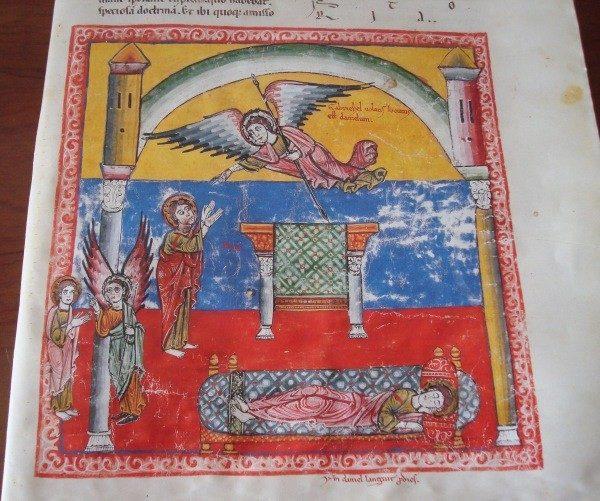 Pliego de 4 páginas del Beato de Liébana códice de Las Huelgas