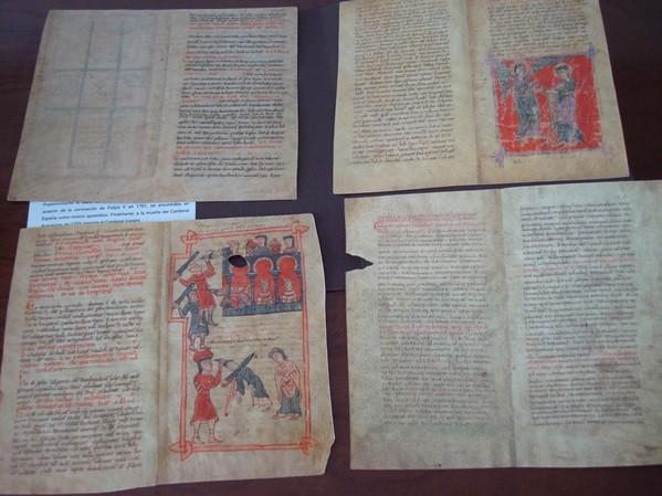 Pliegos con 16 páginas del Beato de Liébana códice de Corsini