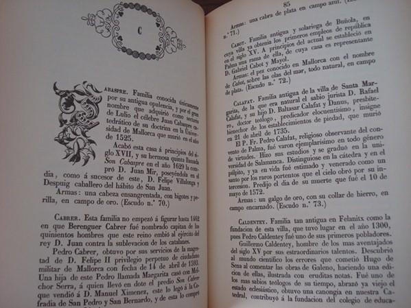 Nobiliario mallorquín, por Joaquín Bover