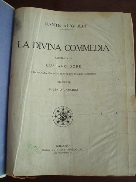 1905 La Divina Comedia. Dante Alighieri. Il. por Doré. (en italiano)