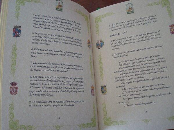Estatuto de Autonomía para Andalucía de 2007, edición de lujo