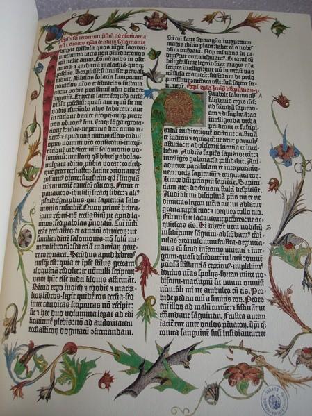 La Biblia de Gutenberg (Biblia de 42 líneas), año 1454. Incunable de Burgos