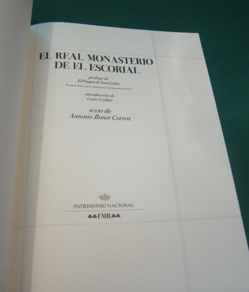 El Real Monasterio de El Escorial, FMR, Louis Godart