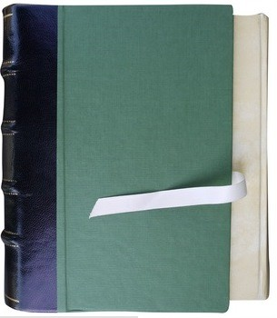 Funda de lujo para libro, caja-estuche, tipo abierto inverso