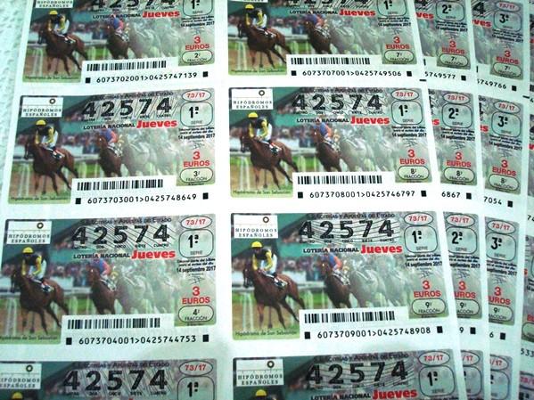 Lotería Nacional Jueves. Número 42574 completo