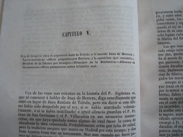 1849 Historia del Real Monasterio de El Escorial, José Quevedo