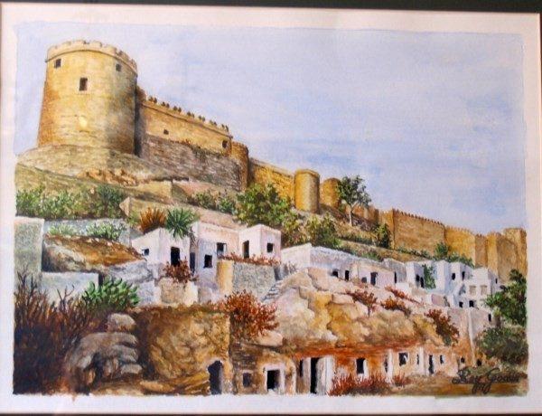 Rey Godás, la Alcazaba de Almería, 1978, acuarela