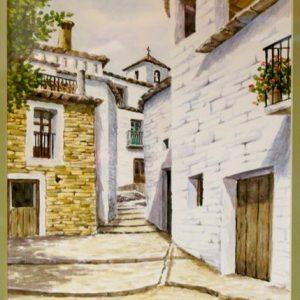 Rey Godás, Alpujarra granadina, 1998, acuarela