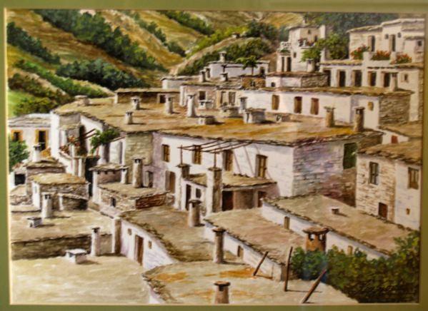 Rey Godás, chimeneas en la Alpujarra granadina, 1998, acuarela