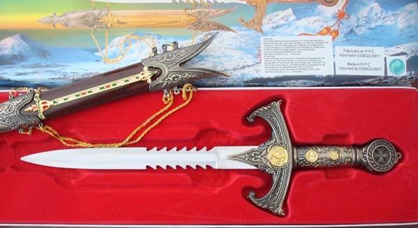 Daga Templaria Tole10 24 cm con funda