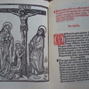 1493 Historia de la Passio de N. S. Jesu-Christi en cobles. Valencia.