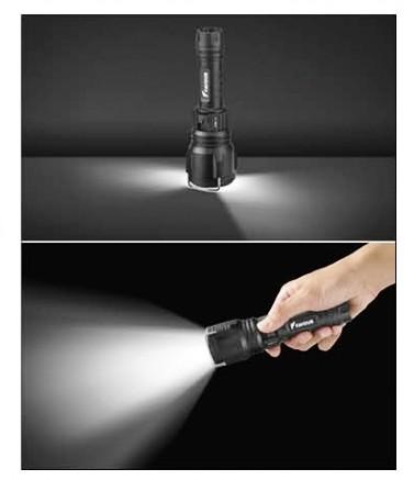 Linterna táctica recargable, de buceo 100M, alta luminosidad 1000LM