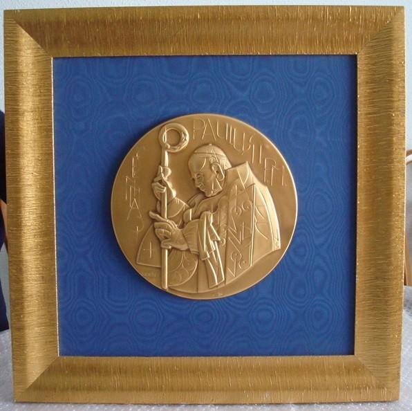 Ioannes Paulus II (Joannes Paulus II, San Juan Pablo II), Bodini, en oro