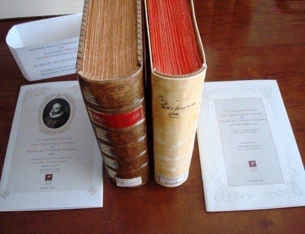 2005 El Quijote, Cervantes, facsímiles 1605-1615, completo *****