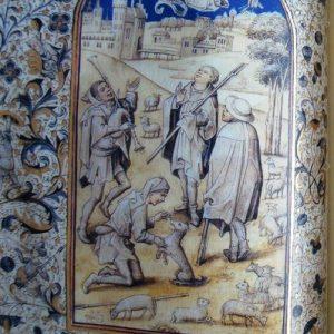 Libro de Horas de la Reina Doña Leonor de Portugal, s. XV, con libro estudio y estuche crema (+R)
