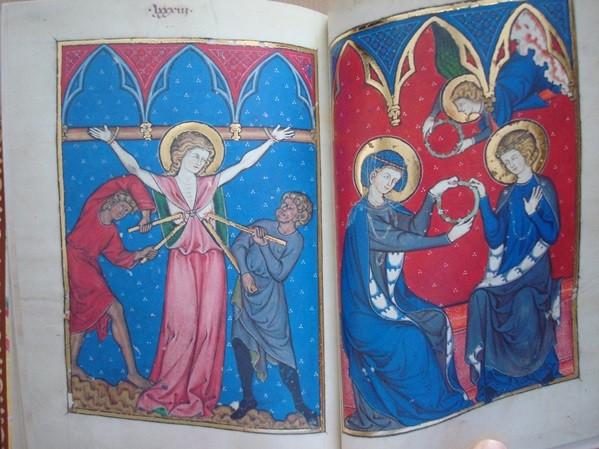 Martirologio Anglonormando (s. XIII). Libro de Imágenes de Madame Marie