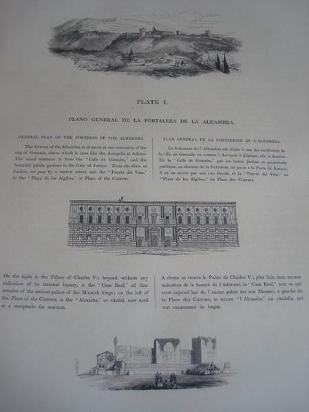 La Alhambra en el siglo XIX. Owen Jones. 1842. Espectacular y gran formato