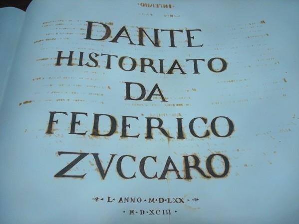 Dante Historiato da Federigo Zuccaro, ¡muy grande!, s. XVI