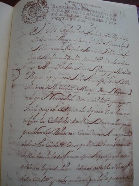 Privilegio de Estatuto de Nobleza de Sangre de la Ciudad de Málaga, s. XVII