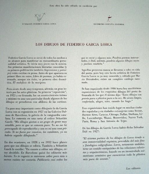 Lote Federico García Lorca: Romancero Gitano y Dibujos