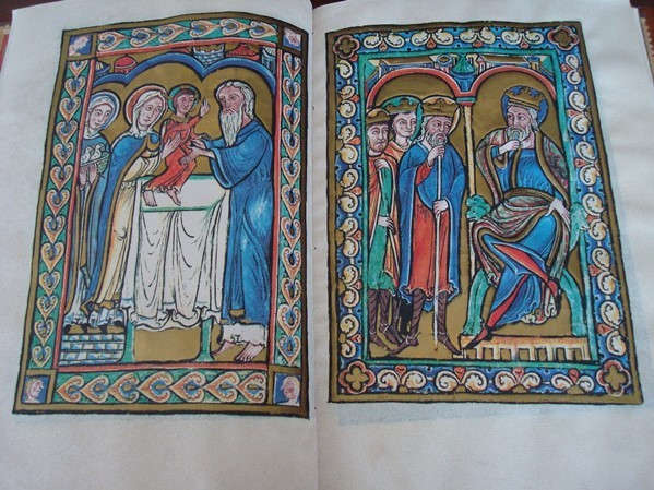 La Vida de Cristo en imágenes, s. XII (en pergamino natural) P.E.