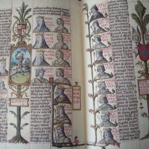 Genealogía de los Reyes de España (Anacephaleosis), c. 1530 *****+ (en pergamino natural)