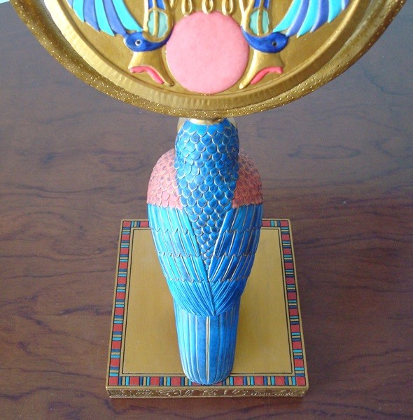 Espejo giratorio dios Horus Antiguo Egipto